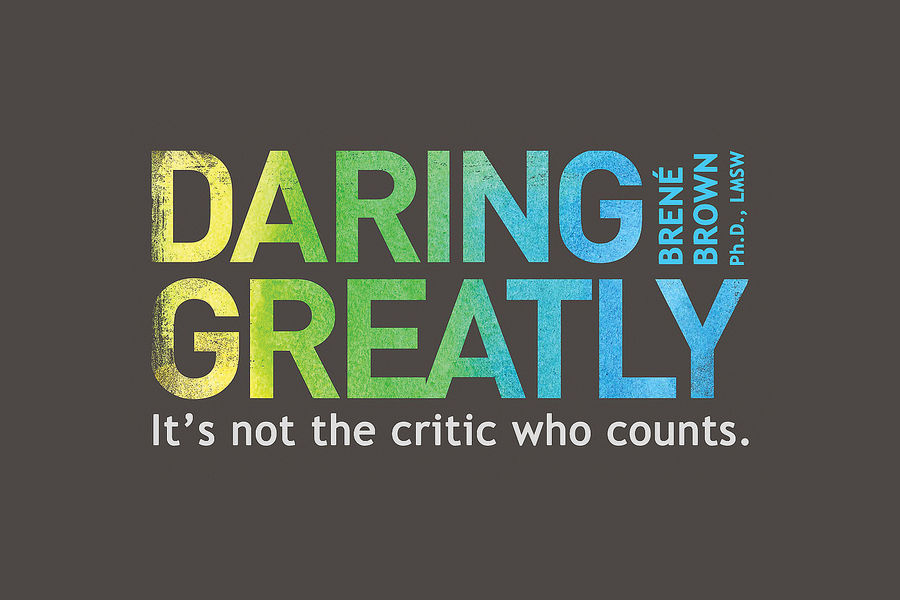 Artwork for the book Daring Greatly.