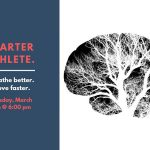 Smarter Athlete event poster featuring mind and forest overaly